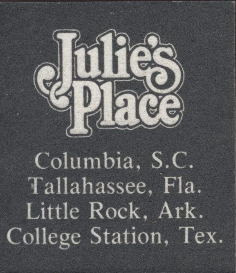 Julie's Place – Tallahassee – Matchbook