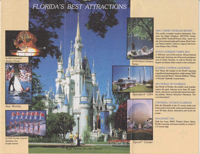 Central Florida Tourist Map – 1993 – Pringle Development