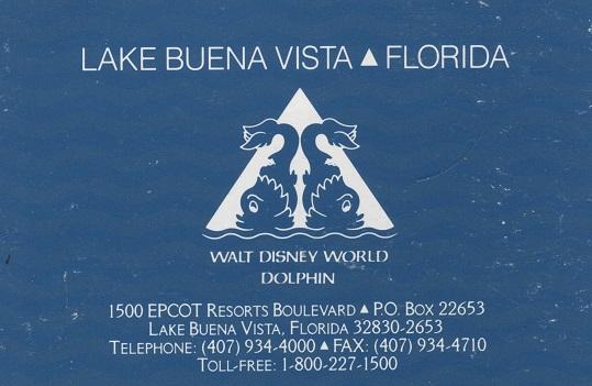Walt Disney World Dolphin – early 90's brochure