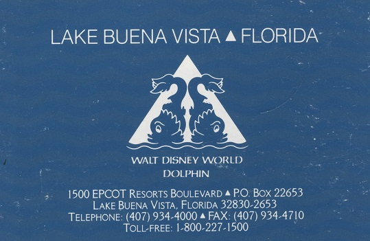 Walt Disney World Dolphin – early 90's brochure